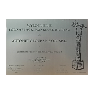 Distinction of the Podkarpackie Business Club